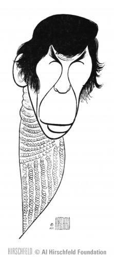 Drawing by Al Hirschfeld of LEONARD NIMOY