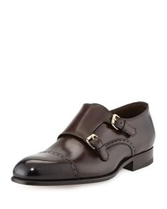 Charles Double-Monk Shoe, Dark Brown by Tom Ford at Neiman Marcus. Sleek and sexy! Great for work