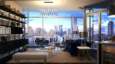 New Downtown Austin residential tower Fifth Condo Interior Design, Downtown Lofts, Real Estate Houses, The Neighbourhood, Tower, Ceiling Lights, Furniture, Home Decor, Goals