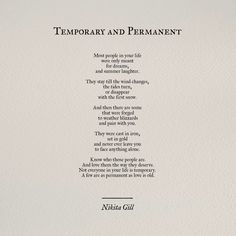 Temporary and Permanent