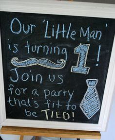 """""""Little man"""" themed first birthday party"""