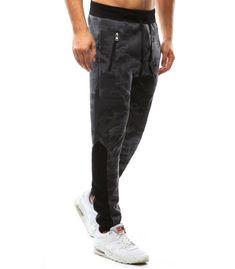 Pánske maskáčové šedé nohavice Parachute Pants, Sweatpants, Fashion, Moda, Fashion Styles, Fashion Illustrations