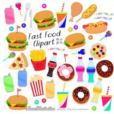 Fast food clipartJunk foodHamburgerHot | Etsy Kids Pizza, Simple Collage, Food Clipart, Food Illustrations, Collage Sheet, Paper Background, Junk Food, Textures Patterns, Clip Art