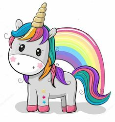 Cartoon Unicorn isolated on a white background. Cute Cartoon Unicorn and a rainbow isolated on a white background vector illustration Unicorn Drawing, Cartoon Unicorn, Unicorn Art, Magical Unicorn, Cute Unicorn, Rainbow Unicorn, Cartoon Mignon, Unicorn Pictures, Unicorn Images