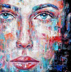 """Saatchi Art Artist Dejan Bozinovski; Painting, """"Portrait 57"""" #art"""
