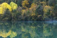 "Autumn mirror - Beautiful autumn colors in the National Park "" Ordesa y Monte Perdido""  in the spanish Pyrenees."