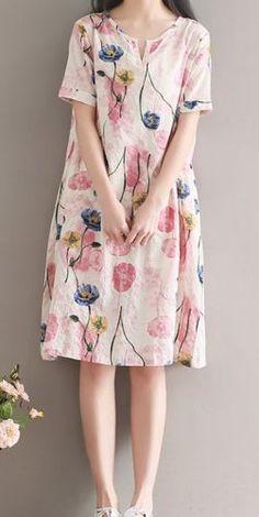 Montaje sobre Talla Grande para Mujeres Suelta Flor Retro Vestido Largo Floral Túnica De Lino | Ropa, calzado y accesorios, Ropa para mujer, Vestidos | eBay!