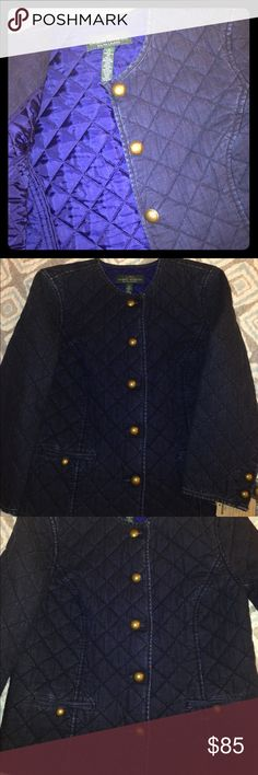 Ralph Lauren jean jacket Small size Ralph Lauren jacket. It has jean material but it has a classical style so you can use with  both casual or sports outfit. The color is dark blue. I never used it. I loved it but My size is medium for this reason I sell it Ralph Lauren Jackets & Coats Blazers