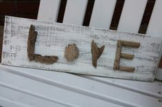 Love driftwood art