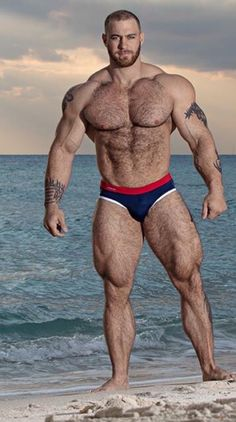 The perfect man. Long, long muscle bellies. Tall. Perfectly shaped muscles. Massive, yet linear. Tall. Hairy. Caleb Blanchard.
