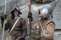 Thirty Years War pikeman and officer