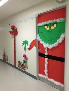 Holiday door decorating ideas. Placed 1st place 2015 Unit/squadron door decorating contest YAB