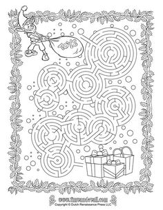 Get into the holiday spirit by completing this Christmas Maze printable. Free for kids, parents, and teachers. Christmas Maze, Christmas In July, Christmas Colors, Christmas Holidays, Christmas Crafts, Holiday Party Games, Christmas Activities, Christmas Worksheets, Christmas Printables