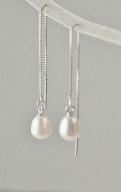 """Lille"", sterling sølv og ferskvannsperler Pearl Necklace, Pearls, Earrings, Jewelry, Ear Rings, Jewellery Making, String Of Pearls, Stud Earrings"