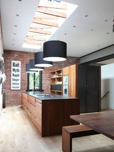 Design Ideas: Unique Skylight With Trusses For The Trendy Kitchen   25  Captivating Ideas For Kitchens With Skylights