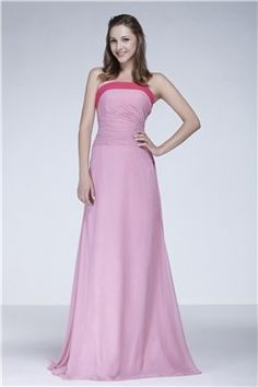 Charming A-Line Strapless Floor-Length Ela's Bridesmaid Dress EF00226