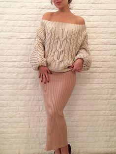 Вязаный свитер ручной работы - Свитера, водолазки - Для нее - Вязаная одежда