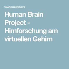 Human Brain Project - Hirnforschung am virtuellen Gehirn