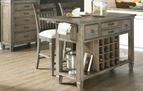 The Kitchen Island from the Brownstone Village Collect adds extra space with drawers, shelves, and wine rack. - Legacy Classic Furniture
