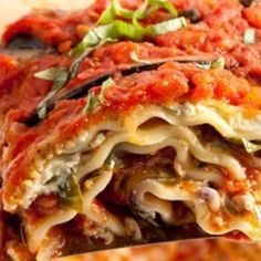 Vegan Lasagne With Eggplant and Mushrooms - Heart Healthy