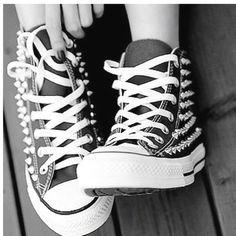 Studded Converse cool.