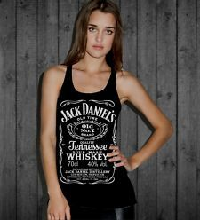 Jack Daniel's Label women Tank Top Tennessee Whiskey Very nice Quality made 07 WANT!!!!!!