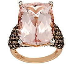 Premier 18.00ct Morganite & 2.00 ct tw Diamond Ring 14K Gold