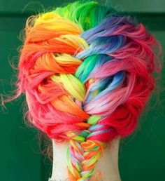 Trenza multicolor!