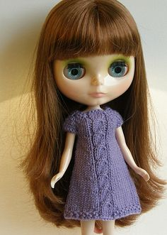 Ravelry: JoannePerry's A-line Cabled Dress for Blythe