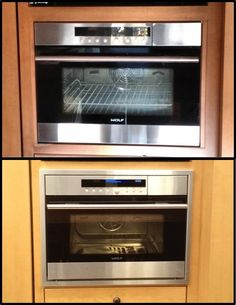 Custom trim kit for a Wolf steam oven, model # CSO24TESTH (Before & After)
