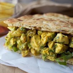 Curried Chicken Salad Sandwich HealthyAperture.com
