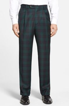 Shop a great selection of Berle Pleated Classic Fit Plaid Wool Trousers. Find new offer and Similar products for Berle Pleated Classic Fit Plaid Wool Trousers. Tartan Pants, Celebrity Outfits, Skinny Fit Jeans, Mens Clothing Styles, Straight Leg Pants, Mens Fashion, Fashion Fall, White Fashion, Clothes