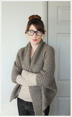 More than the glasses, I want to be able to knit this shawl/cape/sweater