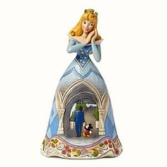 Aurora Figure by Jim Shore - Disneyland Diamond Celebration  To celebrate Disneyland's Diamond Celebration, you'll find Walt and Mickey at the gates of Sleeping Beauty Castle in her gown design!