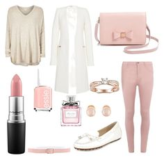 """""""pink&wihte """" by madrilene on Polyvore featuring mode, Dorothy Perkins, River Island, MICHAEL Michael Kors, Thierry Mugler, Ted Baker, Kenneth Jay Lane, Essie, Christian Dior et MAC Cosmetics"""