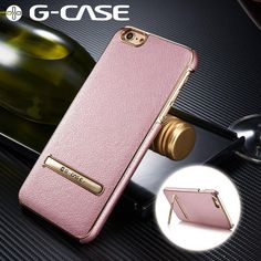 iPhone G-Case Thin Leather Case w/ Kickstand