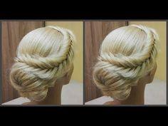 Быстрая и легкая прическа.Легко сделать самой себе.Fast beautiful and easy hairstyle. Easily! - YouTube