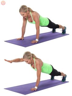 Use plank variations to work your core.