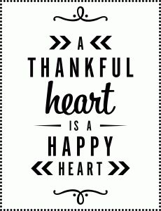 Silhouette Design Store: a thankful heart is a happy heart vinyl saying by Lori Whitlock (perfect for Thanksgiving and now 25% off until Nov 18!)