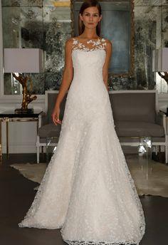 Illusion Neckline Chapel-Length Dress | Romona Kaveza Collection Fall 2015 | blog.theknot.com