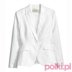 Biała marynarka, H&M #moda #fashion #polkipl #marynarka #jacket