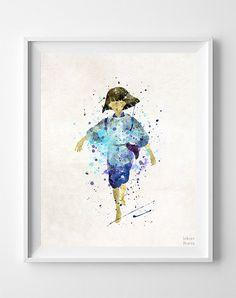 Haku Print, Spirited Away Watercolor, Ghibli Poster, Room Print, Office Wall Decor, Bedroom Art, Decor Gift, Arty Print, Halloween Decor