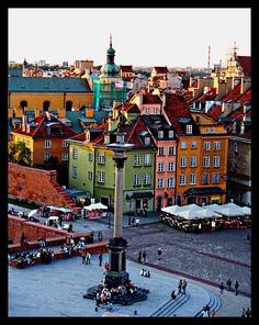 Old town square - Warsaw, Poland.Where my parents families are from. Wonderful Places, Great Places, Beautiful Places, Places To Visit, Places Around The World, Travel Around The World, Around The Worlds, Poland Travel, Old Town Square