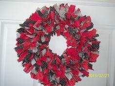 Polka Dot Cloth Wreath by WreathClothsbyDee on Etsy, $45.00