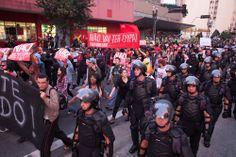 Polícia estreia nova armadura e aumenta efetivo nas ruas durante manifestação em São Paulo