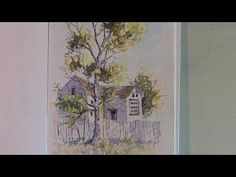 Line And Wash watercolor painting -Vlog 3 - YouTube