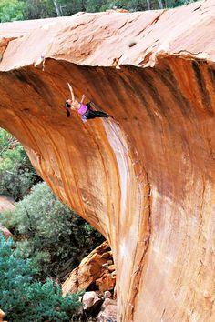 The Wave (5.12b), Nomad Springs, Western Australia. #rockclimbing #climbing