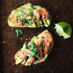 Food Nasty: Avocado Shrimp Toast