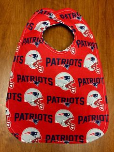 A personal favorite from my Etsy shop https://www.etsy.com/listing/253694868/new-england-patriots-baby-bib