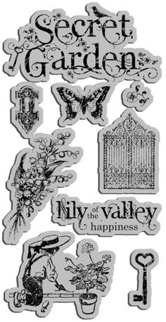 Graphic45 Secret Garden collection SG-cling-stamps_01